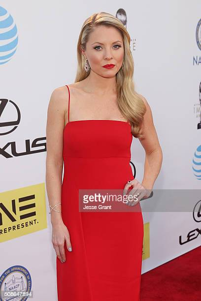 Actress Kaitlin Doubleday attends the 47th NAACP Image Awards presented by TV One at Pasadena Civic Auditorium on February 5 2016 in Pasadena...