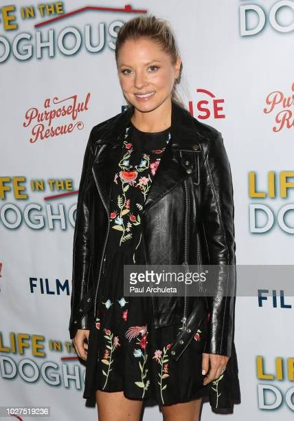Actress Kaitlin Doubleday attends the premiere of FilmRise's Life In The Doghouse at Writers Guild Theater on September 5 2018 in Beverly Hills...