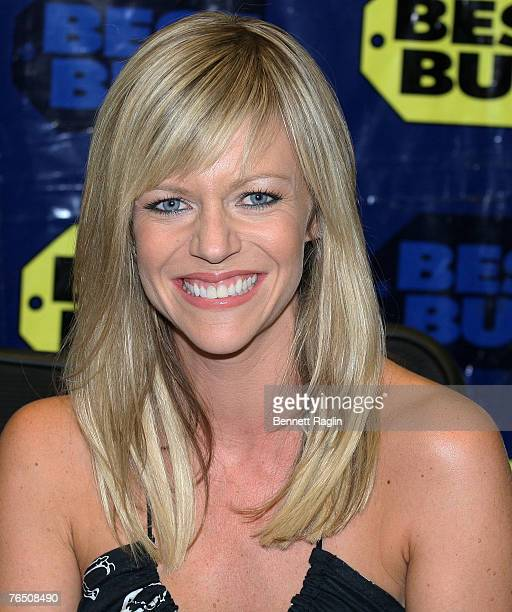 Actress Kaitlin Olsen pose for a picture during the It's Always Sunny In Philadelphia season 1 and 2 DVD launch at Best Buy New York New York