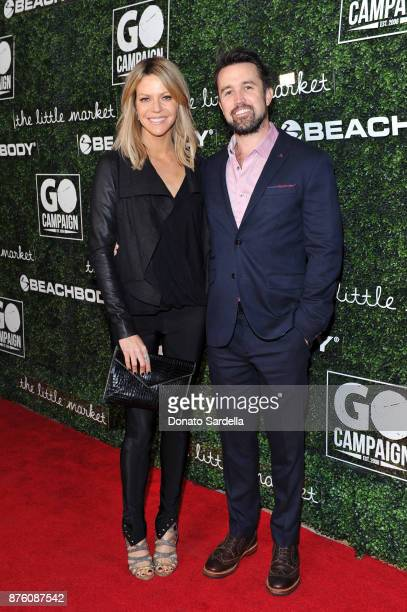 Actress Kaitlin Olson and Actor Rob McElhenney attend the 2017 GO Campaign Gala at NeueHouse Los Angeles on November 18 2017 in Hollywood California