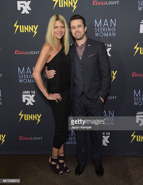 Actress Kaitlin Olson and actor Rob McElhenney attend the premiere of FXX's 'Its Always Sunny in Philadelphia' at the DGA Theater on January 13 2015...