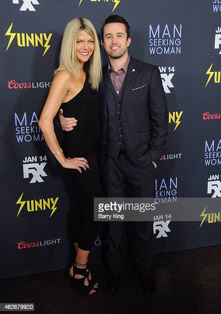 Actress Kaitlin Olson and actor Rob McElhenney attend the premiere of FXX's 'It's Always Sunny In Philadelphia' and 'Man Seeking Woman' at The DGA...