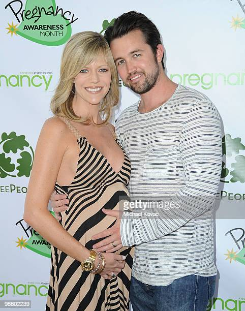 Actress Kaitlin Olson and husband Rob McElhenney attend Anna Getty's Pregnancy Awareness Month Kickoff Event at TreePeople on May 2 2010 in Los...