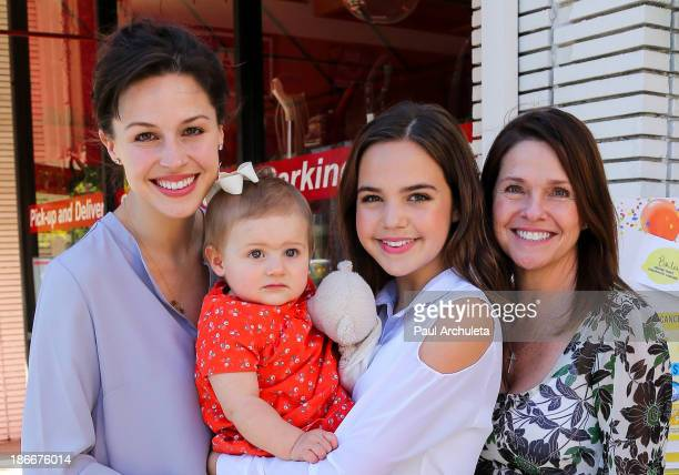 Actress Kaitlin Riley Vilasuso her daughter Riley Vilasuso her sister actress Bailee Madison and her mother Patti Riley Bailee attends Alex's...