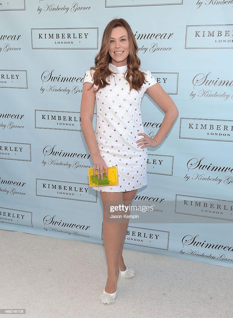 UK Celebrity Kimberley Garner Swimsuit Launch Party : News Photo