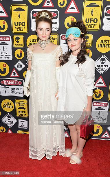 Actress Kaitlyn Dever and Mady Dever attend Just Jared's Annual Halloween Party at Tenants of the Trees on October 30 2016 in Los Angeles California