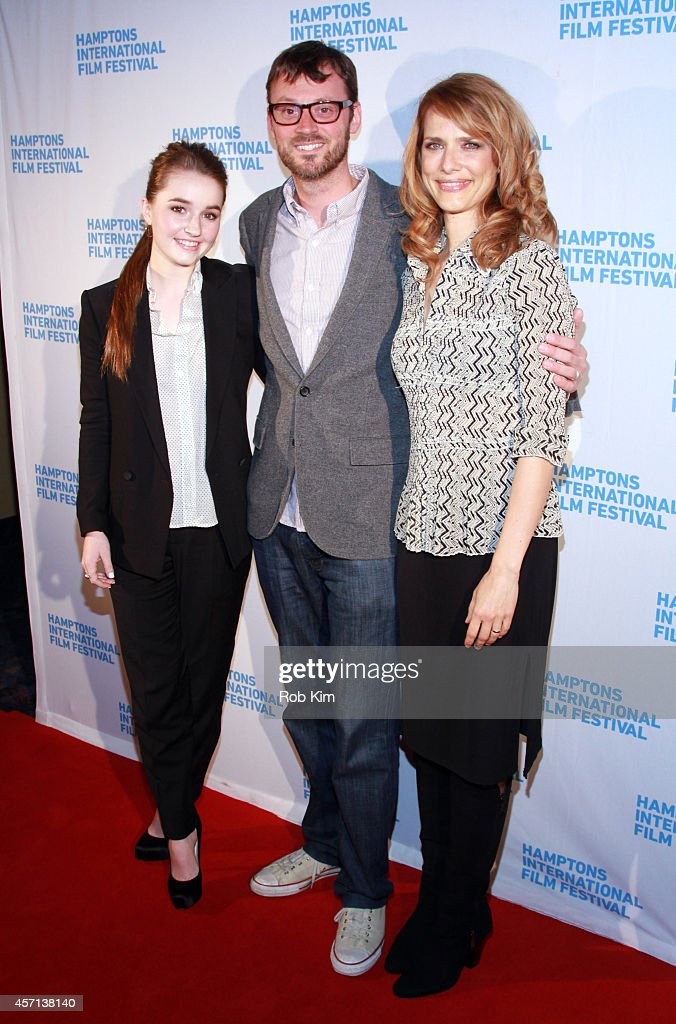 Actress Kaitlyn Dever, Artistic Director of the Hamptons International Film Festival David Nugent and director Lynn Shelton attend the Laggies premiere during the 2014 Hamptons International Film Festival on October 12, 2014 in East Hampton, New York.