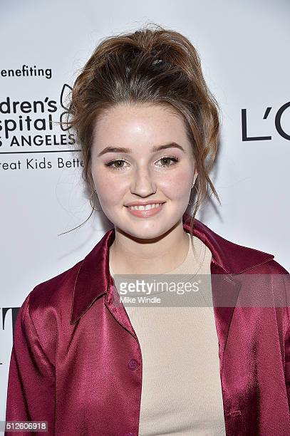 Actress Kaitlyn Dever attends Vanity Fair L'Oreal Paris Hailee Steinfeld host DJ Night at Palihouse Holloway on February 26 2016 in West Hollywood...