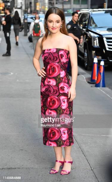 """Actress Kaitlyn Dever is seen outside """"The Late Show with Stephen Colbert """"on May 22, 2019 in New York City."""