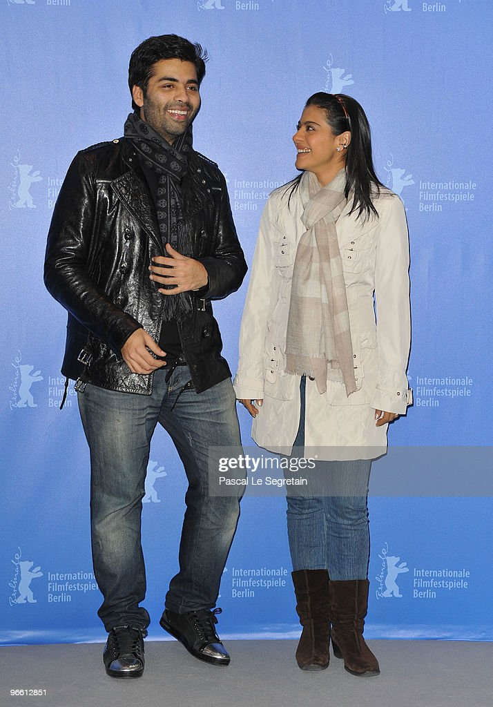Actress Kajol and director Karan Johar attend the `My Name Is Khan` Photocall during day two of the 60th Berlin International Film Festival at the...