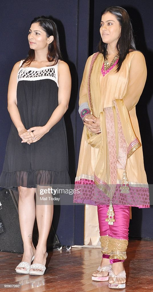 Actress Kajol and Tanisha at the Dignity Donor Privilege programme in Mumbai on Tuesday
