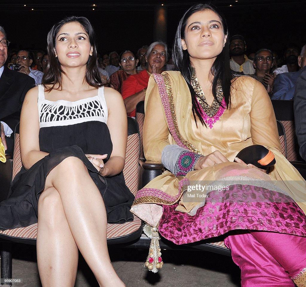 Actress Kajol with sister Tanisha at the Dignity Donor Privilege programme in Mumbai on Tuesday