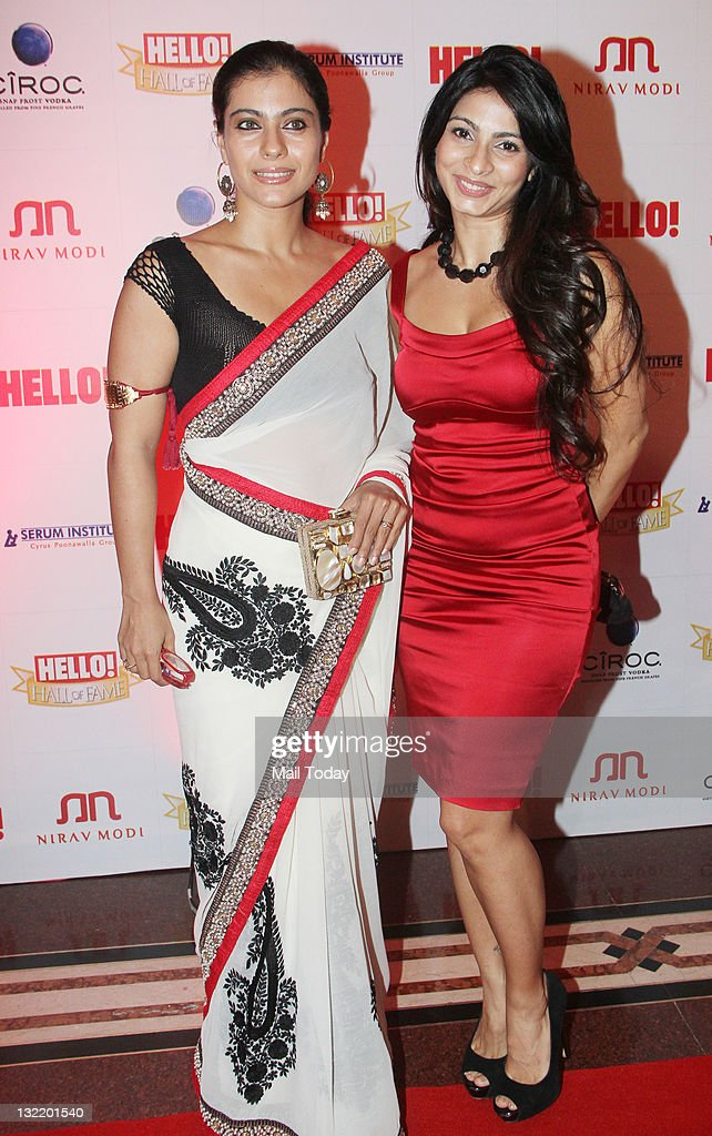Actress Kajol with sister Tanisha at the Hello Hall of Fame Awards Nite at the Trident in Mumbai