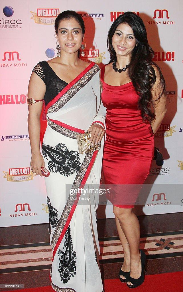 Actress Kajol with sister Tanisha at the Hello Hall of Fame Awards Nite at the Trident in Mumbai
