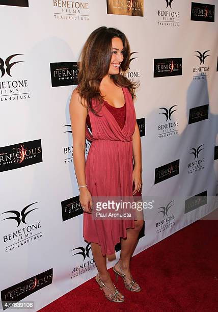 Actress Kaleina Cordova attends the premiere PERNICIOUS at Arena Cinema Hollywood on June 19 2015 in Hollywood California