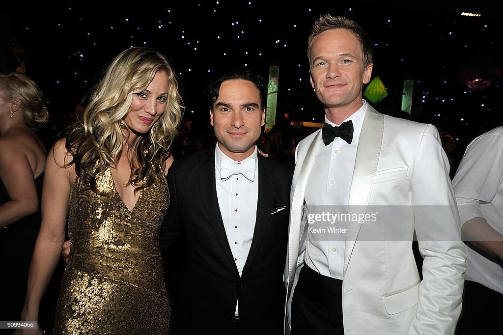 Actress Kaley Cuoco, actor Johnny Galecki and actor Neil Patrick Harris attend the Governors Ball for the 61st Primetime Emmy Awards held at the Los Angeles Convention Center on September 20, 2009 in Los Angeles, California.