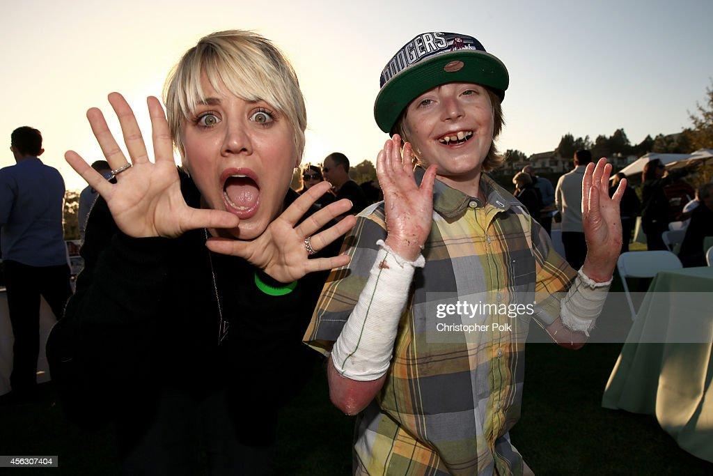 Actress Kaley Cuoco and Brandon Joseph attend Rock4EB, Malibu, with Jackson Browne & David Spade sponsored by Suja Juice & Sabra Hummus at Private Residence on September 28, 2014 in Malibu, California.