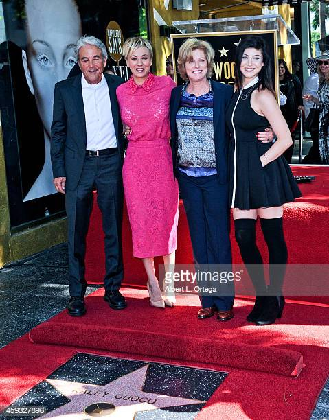 Actress Kaley Cuoco and family at The Hollywood Walk Of Fame ceremony for Kaley Cuoco on October 29 2014 in Hollywood California