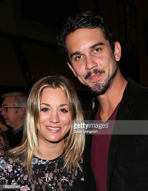 Actress Kaley Cuoco and fiance professional tennis player Ryan Sweeting attend the Amanda Foundation's Annual Bow Wow Beverly Hills Halloween event...