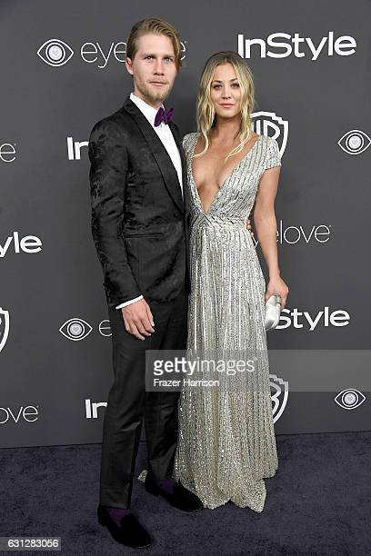 Actress Kaley Cuoco and Karl Cook attend the 18th Annual PostGolden Globes Party hosted by Warner Bros Pictures and InStyle at The Beverly Hilton...