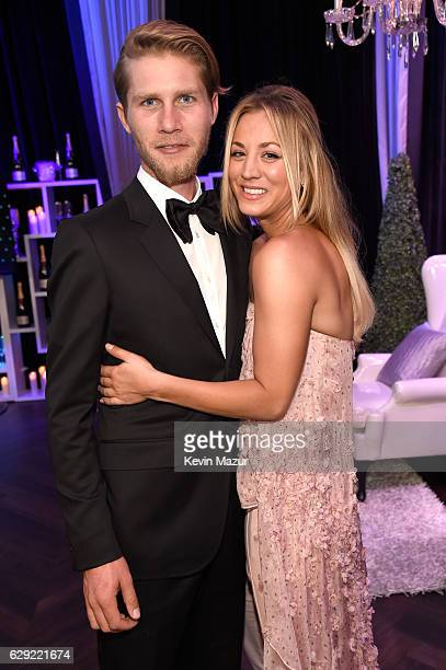 Actress Kaley Cuoco and Karl Cook attend The 22nd Annual Critics' Choice Awards at Barker Hangar on December 11 2016 in Santa Monica California