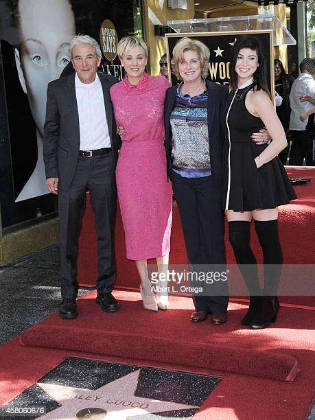 Actress Kaley Cuoco and parents Gary Cuoco and Layne Ann Cuoco and sister Briana Cuoco at The Hollywood Walk Of Fame Star ceremony honoring Kaley...