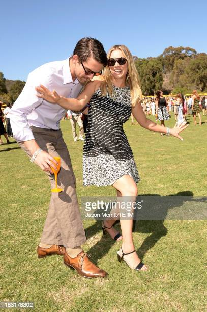 Actress Kaley Cuoco and Ryan Sweeting attend The FourthAnnual Veuve Clicquot Polo Classic Los Angeles at Will Rogers State Historic Park on October 5...
