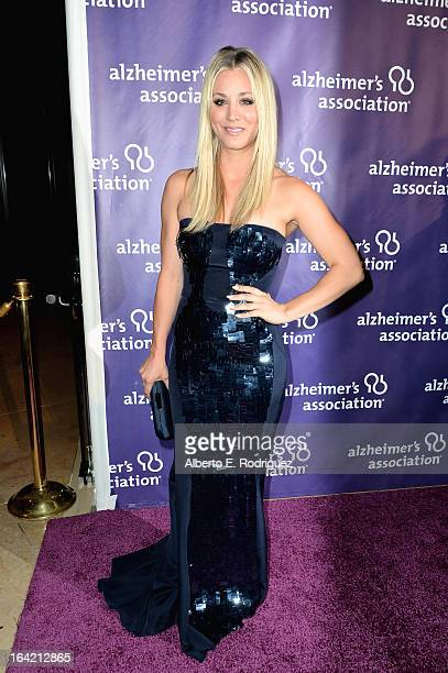 Actress Kaley Cuoco arrives at 21st Annual A Night At Sardi's gala benefiting the Alzheimer's Association Arrivals at The Beverly Hilton Hotel on...