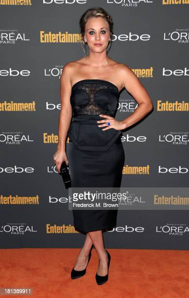 Actress Kaley Cuoco arrives at Entertainment Weekly's Pre-Emmy Party at Fig & Olive Melrose Place on September 20, 2013 in West Hollywood, California.