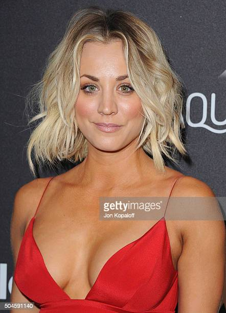 Actress Kaley Cuoco arrives at the 2016 InStyle And Warner Bros. 73rd Annual Golden Globe Awards Post-Party at The Beverly Hilton Hotel on January...