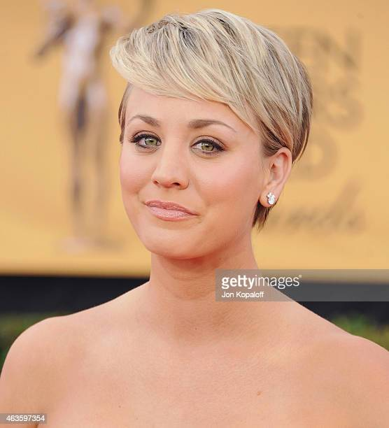 Actress Kaley Cuoco arrives at the 21st Annual Screen Actors Guild Awards at The Shrine Auditorium on January 25 2015 in Los Angeles California