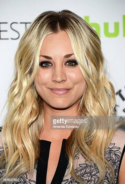 Actress Kaley Cuoco arrives at the 30th Annual PaleyFest The William S Paley Television Festival featuring 'The Big Bang Theory' at the Saban Theatre...