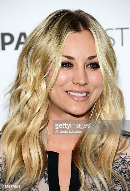 Actress Kaley Cuoco arrives at the 30th Annual PaleyFest The William S Paley Television Festival featuring The Big Bang Theory at the Saban Theatre...