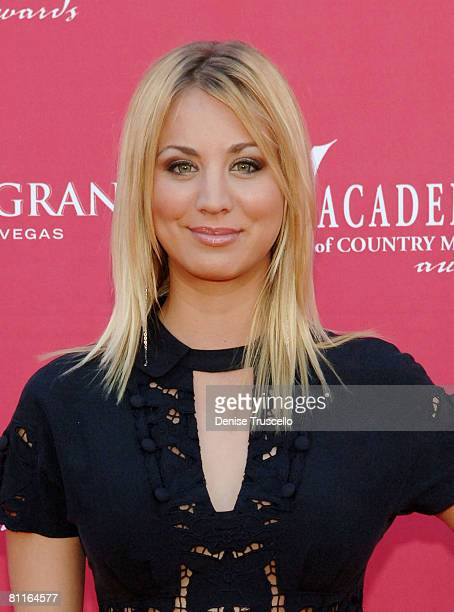 Actress Kaley Cuoco arrives at the 43rd Academy of Country Music Awards at The MGM Grand Garden Arena on May 18 2008 in Las Vegas Nevada