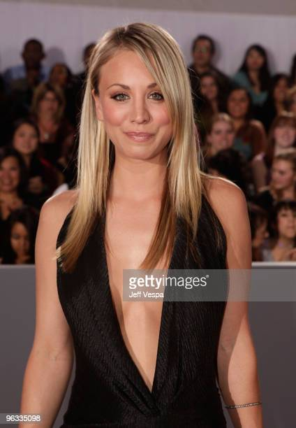 Actress Kaley Cuoco arrives at the 52nd Annual GRAMMY Awards held at Staples Center on January 31 2010 in Los Angeles California