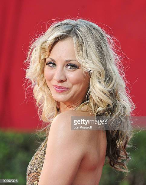 Actress Kaley Cuoco arrives at the 61st Primetime Emmy Awards held at the Nokia Theatre LA Live on September 20 2009 in Los Angeles California