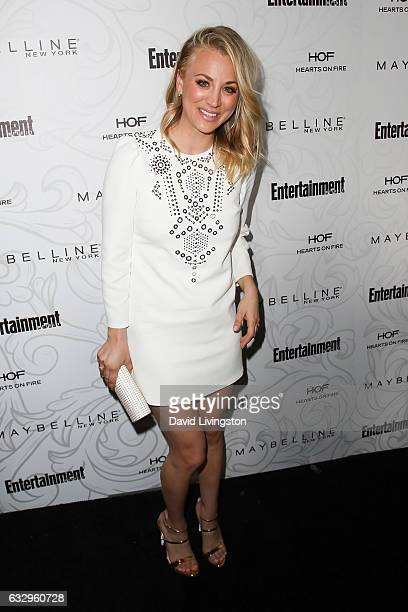 Actress Kaley Cuoco arrives at the Entertainment Weekly celebration honoring nominees for The Screen Actors Guild Awards at the Chateau Marmont on...