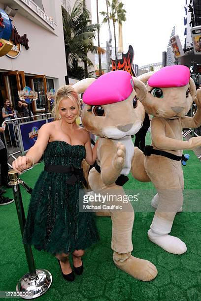 Actress Kaley Cuoco arrives at the Los Angeles premiere of 'Hop' at Universal Studios Hollywood on March 27 2011 in Universal City California