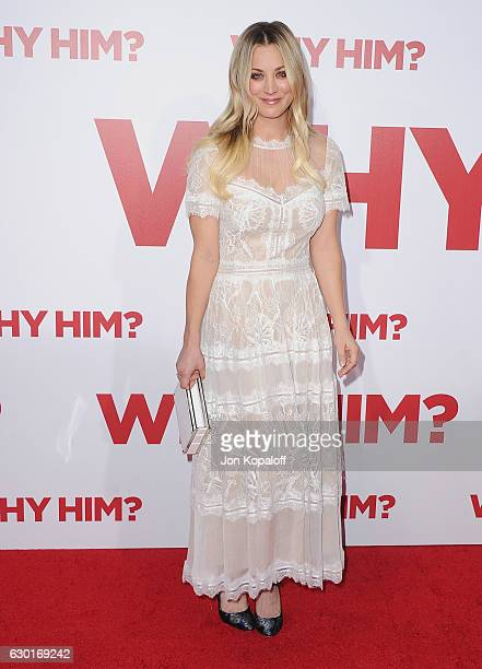 Actress Kaley Cuoco arrives at the Los Angeles Premiere Why Him at Regency Bruin Theater on December 17 2016 in Westwood California