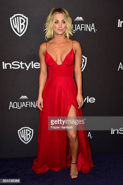 Actress Kaley Cuoco attends InStyle and Warner Bros. 73rd Annual Golden Globe Awards Post-Party at The Beverly Hilton Hotel on January 10, 2016 in...