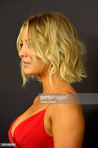 Actress Kaley Cuoco attends InStyle and Warner Bros 73rd Annual Golden Globe Awards PostParty at The Beverly Hilton Hotel on January 10 2016 in...