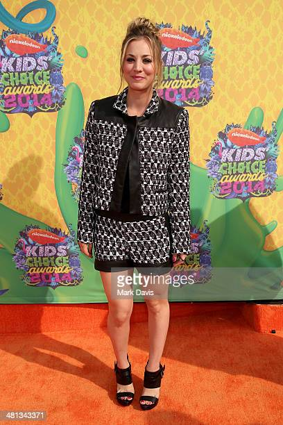 Actress Kaley Cuoco attends Nickelodeon's 27th Annual Kids' Choice Awards held at USC Galen Center on March 29 2014 in Los Angeles California