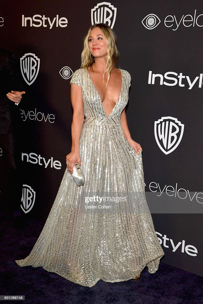 Actress Kaley Cuoco attends the 18th Annual Post-Golden Globes Party hosted by Warner Bros. Pictures and InStyle at The Beverly Hilton Hotel on January 8, 2017 in Beverly Hills, California.