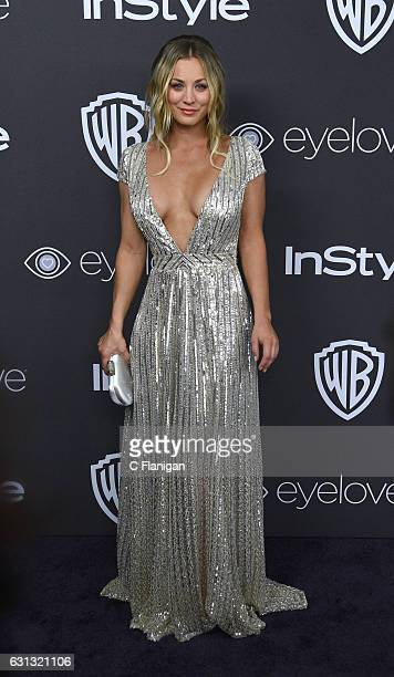 Actress Kaley Cuoco attends the 18th Annual Post-Golden Globes Party hosted by Warner Bros. Pictures and InStyle at The Beverly Hilton Hotel on...