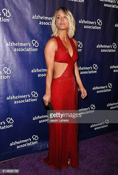 Actress Kaley Cuoco attends the 2016 Alzheimer's Association's A Night At Sardi's at The Beverly Hilton Hotel on March 9 2016 in Beverly Hills...