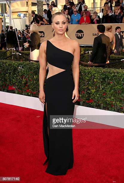 Actress Kaley Cuoco attends the 22nd Annual Screen Actors Guild Awards at The Shrine Auditorium on January 30 2016 in Los Angeles California
