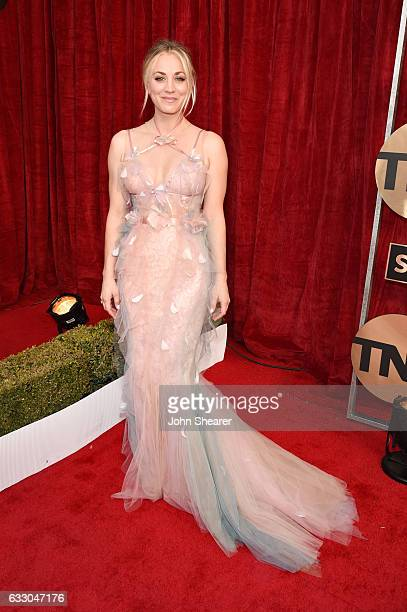 Actress Kaley Cuoco attends The 23rd Annual Screen Actors Guild Awards at The Shrine Auditorium on January 29 2017 in Los Angeles California
