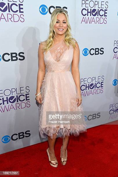 a87f687f48 Actress Kaley Cuoco attends the 39th Annual People s Choice Awards at Nokia  Theatre LA Live on