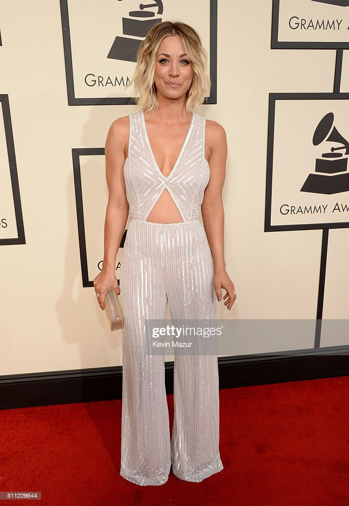 Actress Kaley Cuoco attends The 58th GRAMMY Awards at Staples Center on February 15, 2016 in Los Angeles, California.