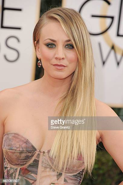 Actress Kaley Cuoco attends the 71st Annual Golden Globe Awards held at The Beverly Hilton Hotel on January 12 2014 in Beverly Hills California